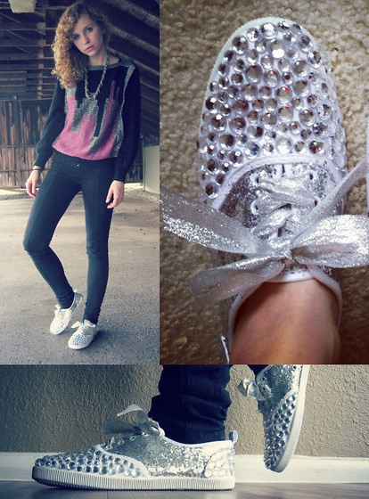 DIY Bedazzled and Glittered Shoes! :) (by Jackie C.) I have to try this