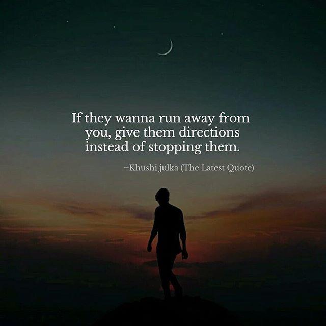 Run Away Quotes