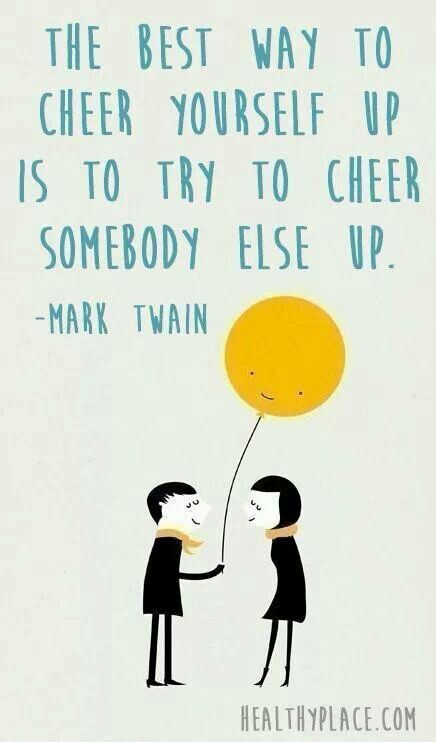 Cheer somebody else up today by volunteering! See how here: http://www.pointsoflight.org/