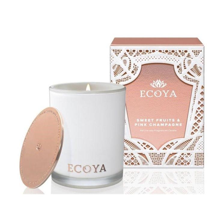 Ecoya Madison Jar Candle - sweet fruits and pink champagne 400g