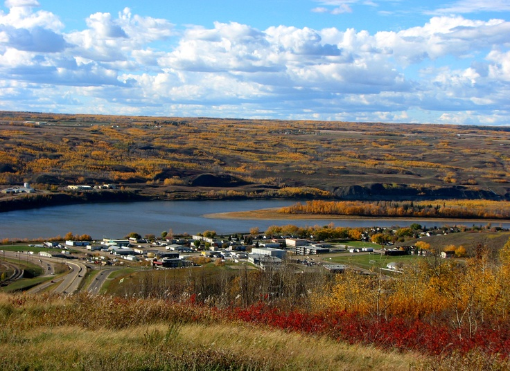 the town of Peace River, alberta. a pretty beautiful little town.