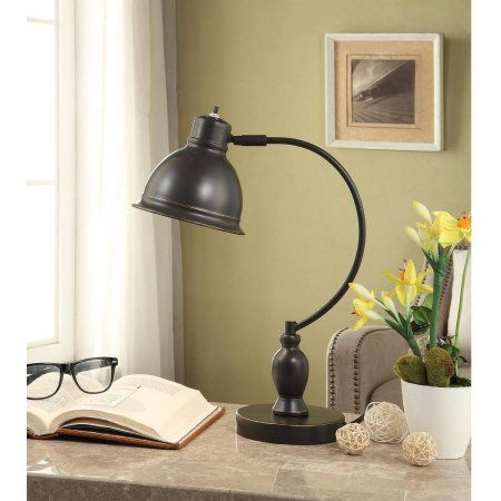 Better Homes and Gardens Traditional Desk Lamp with CFL Bulb, Bronze - Walmart.com