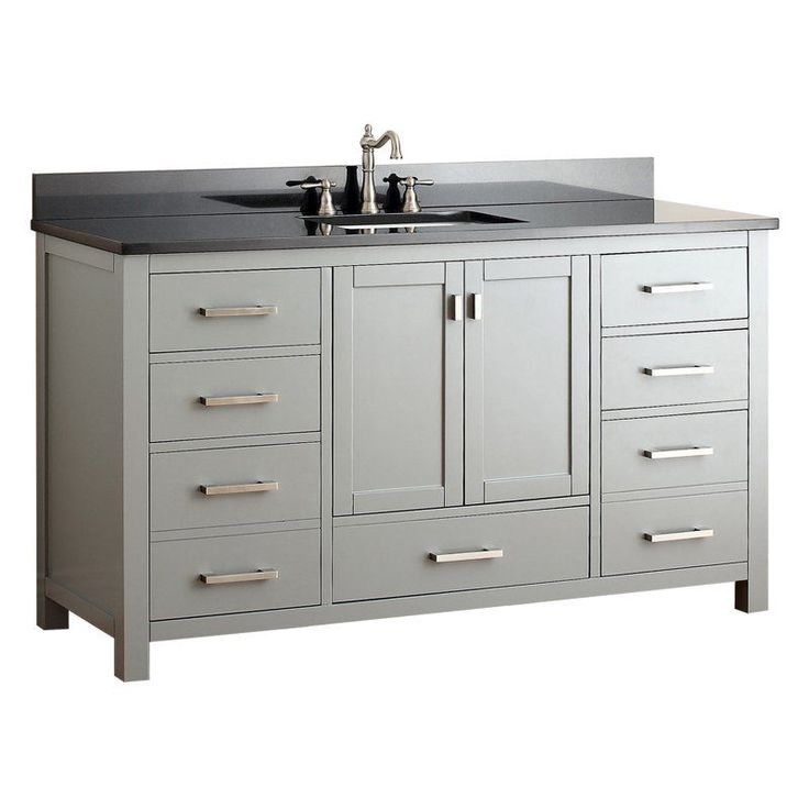 Avanity MODERO VS60 CG Modero 60 In. Single Bathroom Vanity Without Top