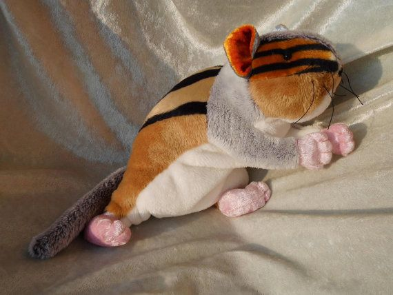 CHIPMUNK stuffed animal cute cuddly handmade by TALLhappyCOLORS