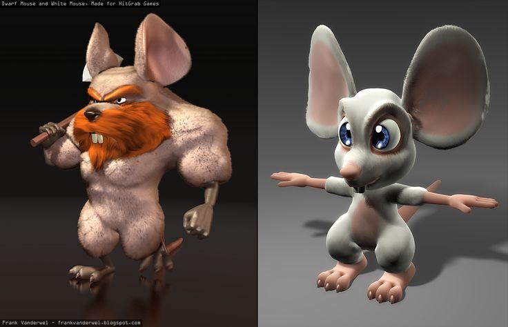MouseHunt Character Models - Made for HitGrab Games frankvanderwel.blogspot.com