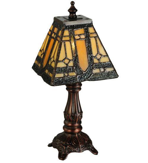 "12""H Sierra Prairie Mission Tiffany Table Lamp"