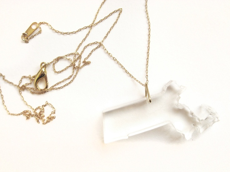 state necklaces | muzedesign: 3995, Inspiration Necklaces, Boston, Thanksmassachusett Necklaces, Necklaces Awesome, Massachusetts Necklaces, Massachusetts Pride, States Necklaces, Necklaces Uncovet