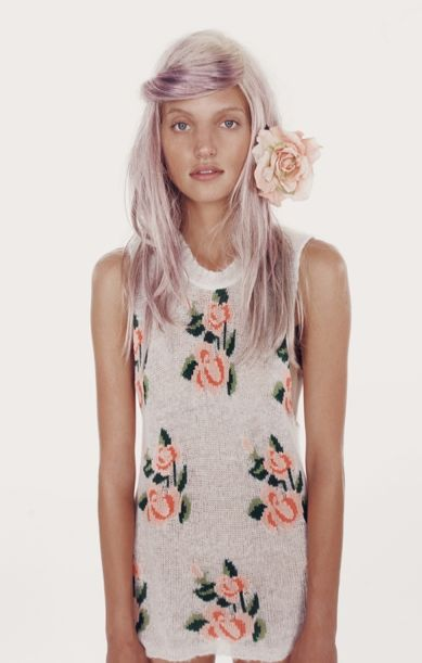 wildfox: Rose, Fashion, Hairstyle, Hair Style, Beauty, Pastel Hair, Hair Colour, Hair Color, Flower