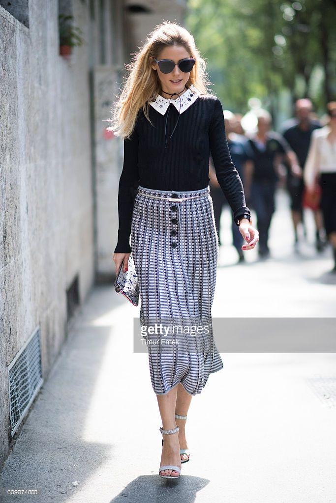 Fotografia de notícias : Olivia Palermo seen during Milan Fashion Week...