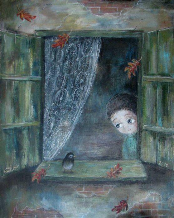 Touching paintings of Nino Chakvetadze