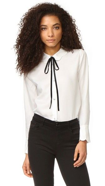 7 For All Mankind Scalloped Shirt | SHOPBOP