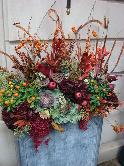 1000 images about fall containers on pinterest gardens fall flowers and container gardening - Potted autumn flowers ...