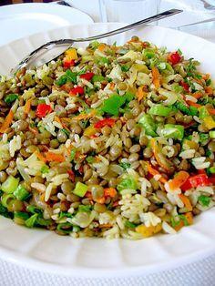 De Gevulde Olijf: Groene linzen salade