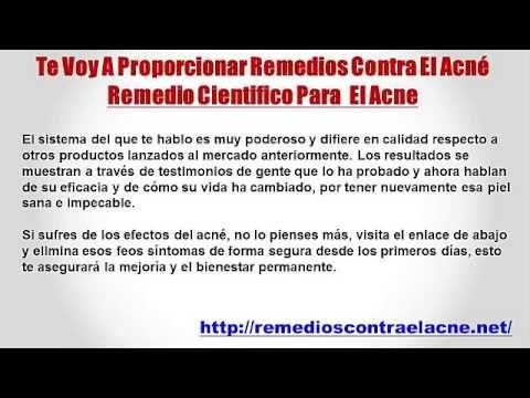 Remedio Cientifico Para El Acne - http://solucionparaelacne.org/blog/remedio-cientifico-para-el-acne/