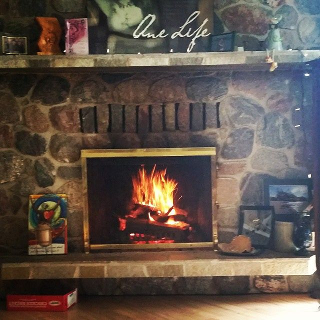 #September seems too early for a fire but it sure feels nice today. Crazy Manitoba weather  my lovely field stone fireplace, keeping the cold weather at bay.  Lavenham, Assiniboine stones