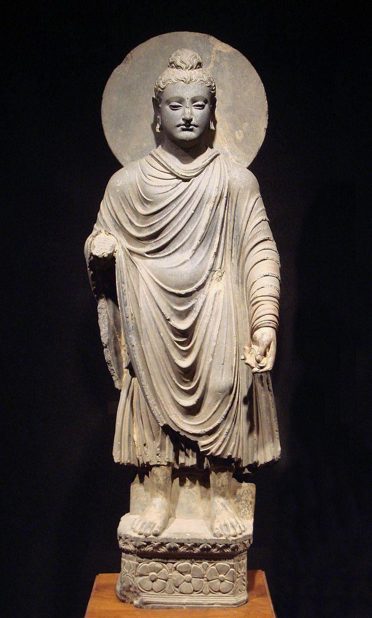 Gandhara Buddha (tnm) - History of clothing in India - Wikipedia, the free encyclopedia