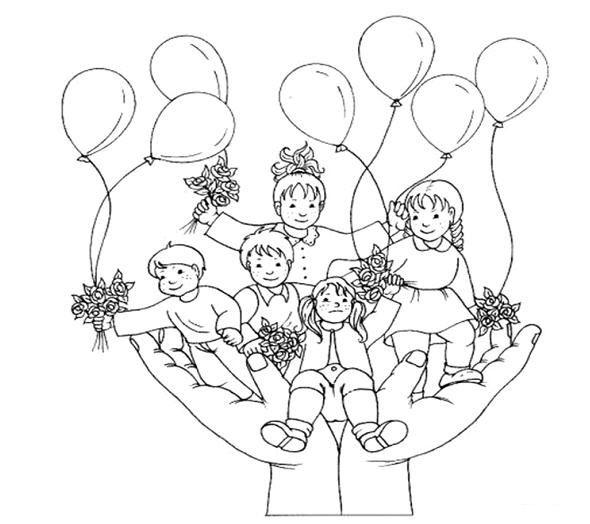 çocukhakları çocukhaklarıgünü Boyamasayfaları Faaliyet Kalıpları