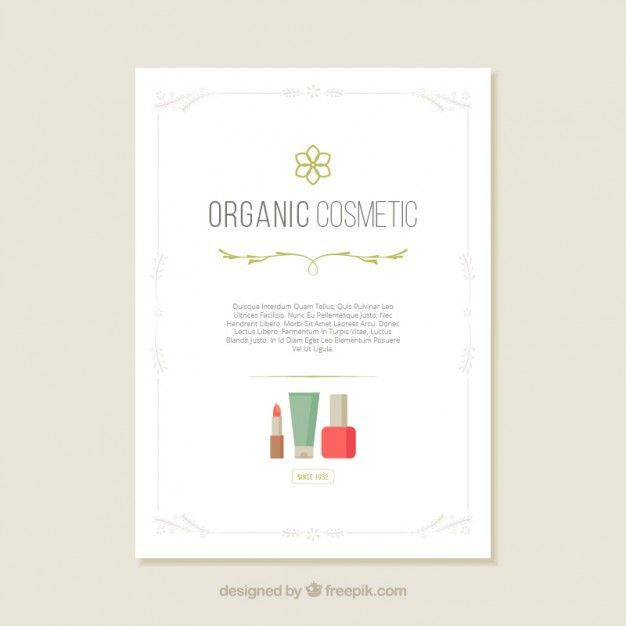 Organic cosmetic flyer Free Vector #free #watercolor #texture #backround #pinterast #beauty #beautybloggers #blogs #forwomen #forgirls #makeup #pinterast #pins #women #read #free #пинтерест #пинтераст #posters #cosmetics