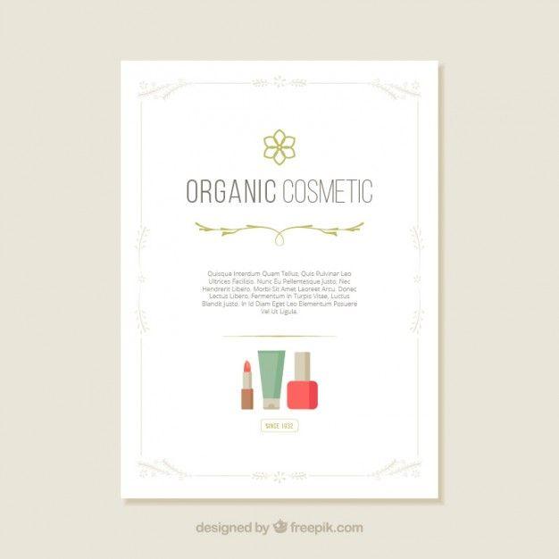Organic cosmetic flyer Free Vector #free #watercolor #texture #backround #pinterast #beauty #beautybloggers #blogs #forwomen #forgirls #makeup #pinterast #pins #women #read #free #пинтерест #пинтераст #posters #cosmetics
