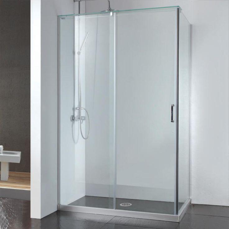 """45"""" x 31"""" Alva Corner Shower Enclosure With Sliding Door - Glass Shower Enclosures - Shower - Bathroom"""