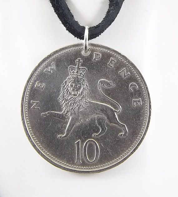 Lion coin necklace - https://www.etsy.com/listing/239708134/lion-coin-necklace-england-10-pence-coin