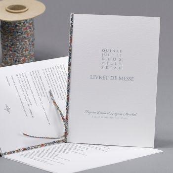 "Livret de Messe, ""Bohême Blue"", white EC-ML07-000-B"