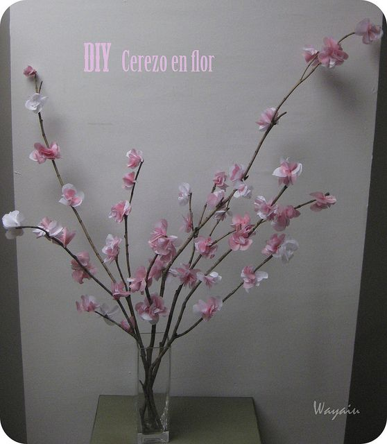 Cherry blossom DIY by Wayaiu, via Flickr