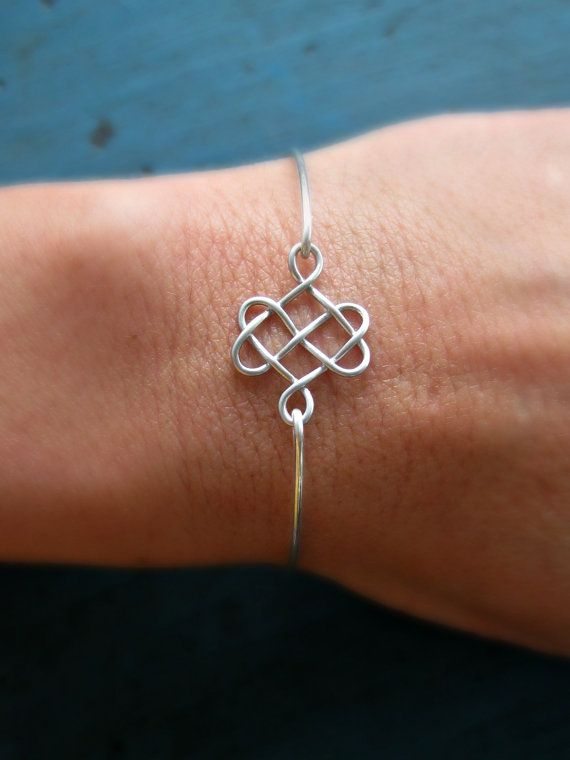 Celtic Knot Bangle Bridesmaid Jewelry Silver by vintagestampjewels, $20.00.....i would love this for each of my sisters!