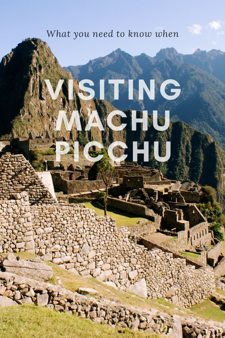 Plan your trip to Machu Picchu with this handy guide.