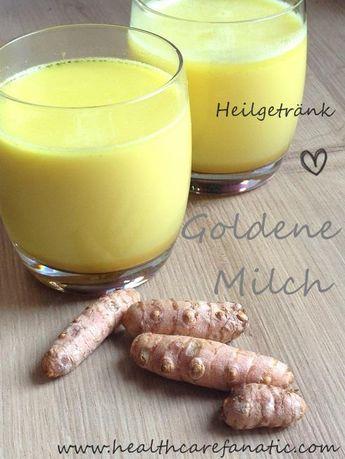 Die Paste: 1/4 Tasse Kurkumapulver 1-1/2 Tassen Wasser  Wasser und Pulver vermischst du im Kochtopf. Das ganze erwärmst du ca. 9 bis 11 Minuten bei mittlerer Hitze unter ständigem Rühren. Nicht zu stark kochen lassen. Die Paste kannst du dann in ein Glas umfüllen und ca. 2 Wochen im Kühlschrank aufbewahren.  Die Goldene Milch: 1 Tasse pflanzliche Milch (keine Kuhmilch!) 1 TL Kurkuma-Paste 1 TL Honig oder eine andere Süße 1/2 TL Öl