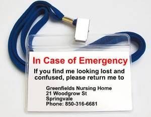 50th birthday gag gift in case of emergency I.C.E. tag