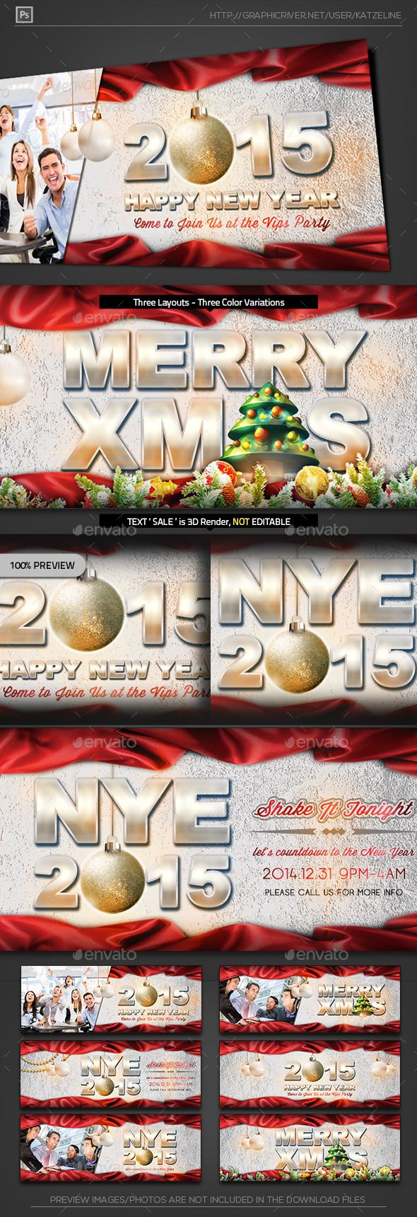 Christmas New Year Eve FB Timeline Cover