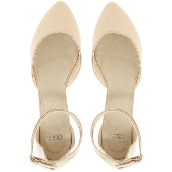 ASOS LULLABY Ballet Flats (£23) ❤ liked on Polyvore featuring shoes, flats, heels, обувь, nude, ballet pumps, ballerina pumps, nude flat shoes, ballet flats and skimmer flats