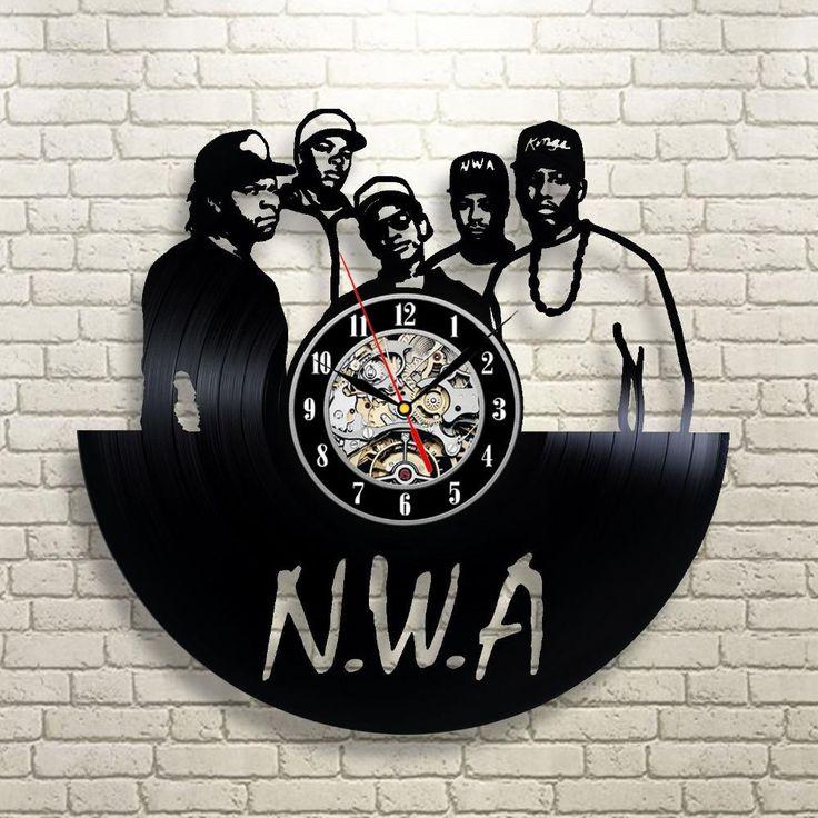NWA 3d Vinyl Wall Record Clock