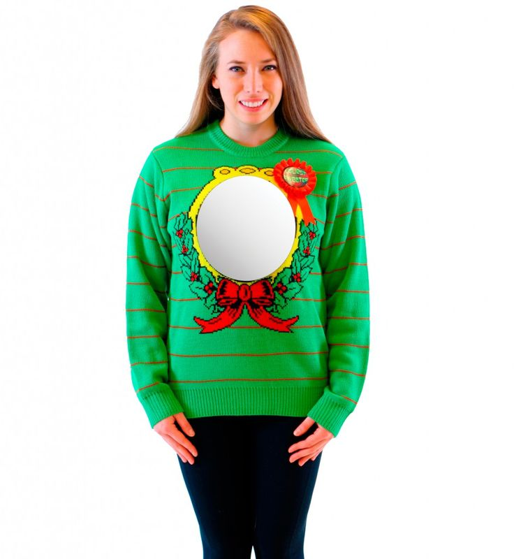 The ultimate in ugly holiday sweaters! If you've been looking for the ugliest Christmas sweater available, you've just found it, folks.
