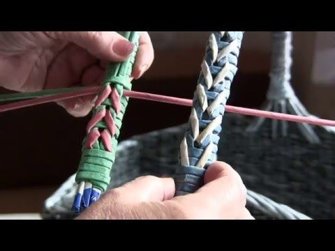 Weaving a strong handle together with Natalia Sorokina. Part 18. - YouTube
