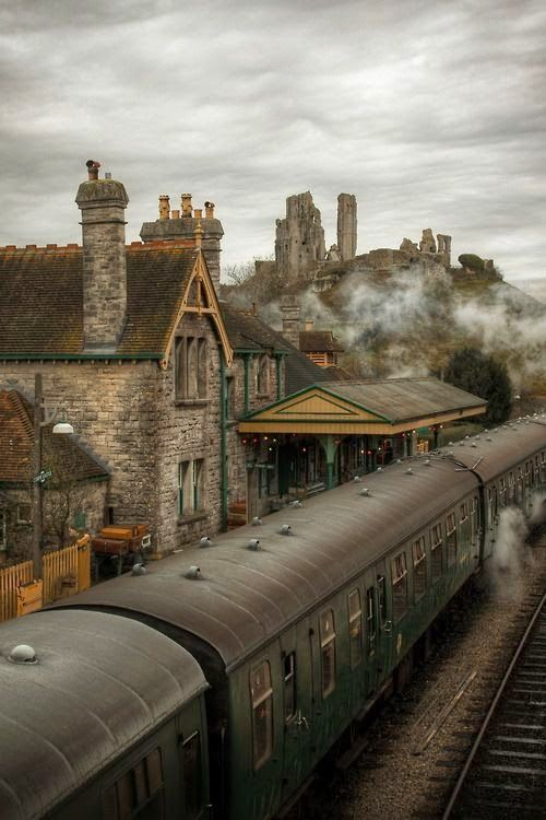 The Wizard Express, Corfe Castle, Dorset, England.  Been there, used the train to get there and it was a beautiful day.  Then on to Swanage which was also wonderful.