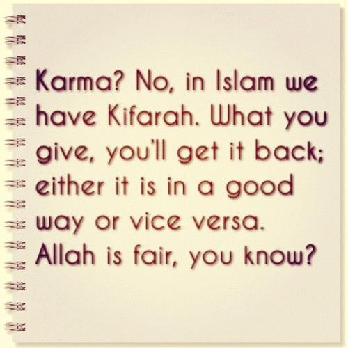 Allah is fair