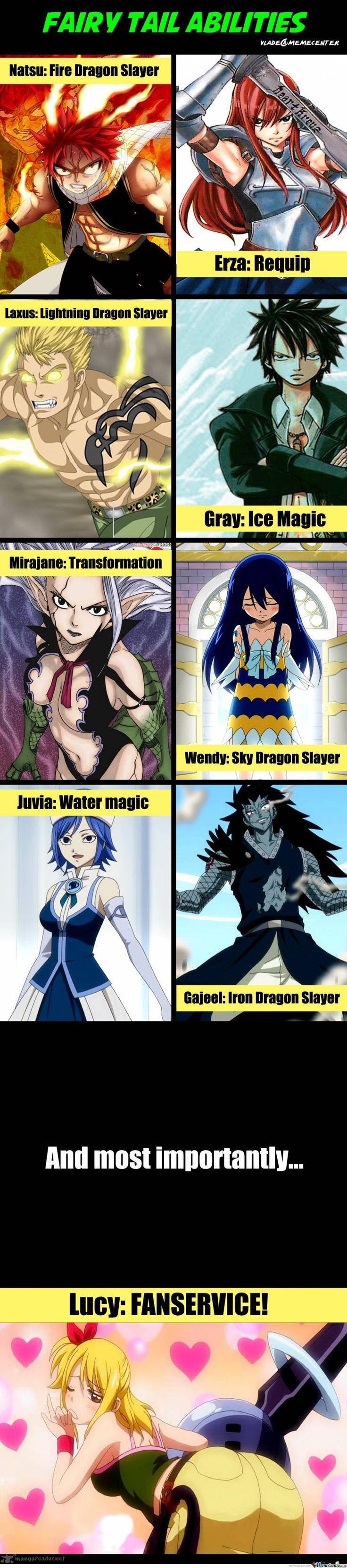 Really now. Let's be honest. Erza provides just as much fanservice as Lucy ~ But I love them both <3