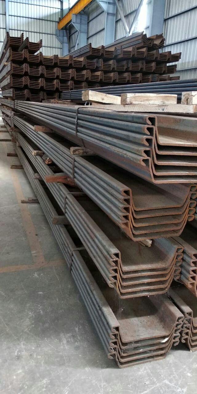 Iron Star Steel Type Ii Steel Sheet Pile Ukuran 400 X 100 X 10 5 Berat 576 Kg Type Iii Steel Sheet Pile Ukuran 400 X 125 X 13 0 Berat 720 Kg Ty
