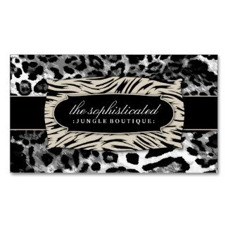 27 best leopard business cards images on pinterest business cards 311 sophisticated jungle black leopard business card colourmoves Image collections
