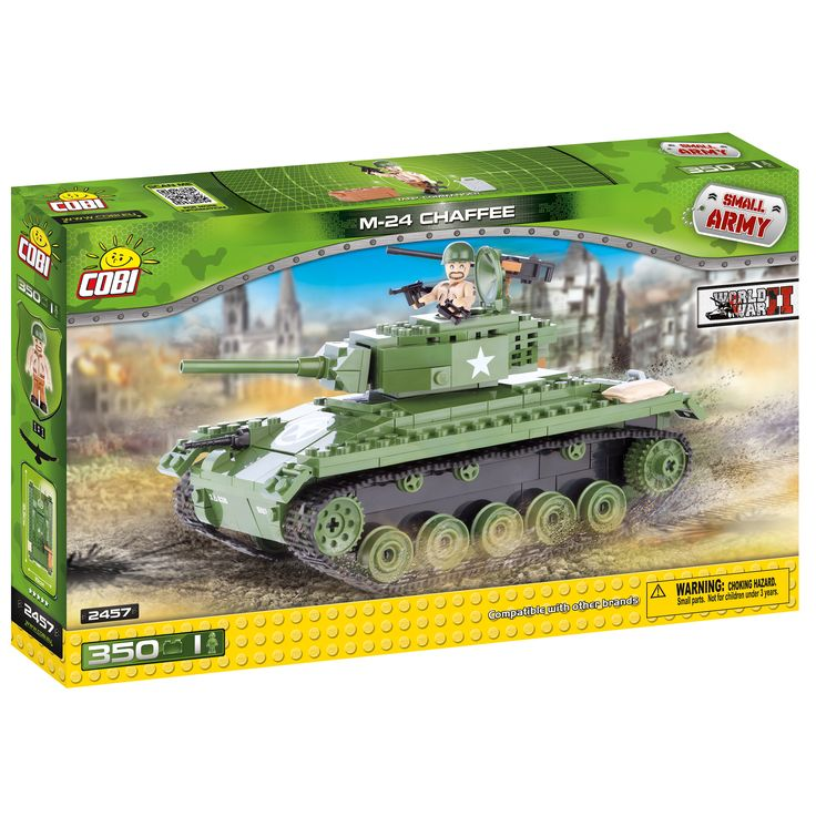 Cobi Small Army American -color M-24 Chaffee Building Kit