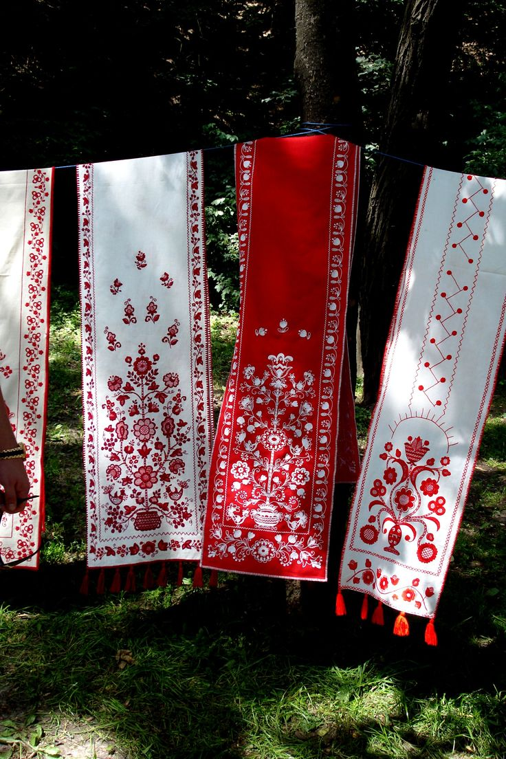 Rushnyk - Ukrainian embroidered and woven ritual cloth.