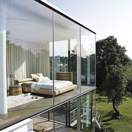 bedroom with a view: Dreams Houses, Beds, Window, Bedrooms Design, Glasses Wall, Interiors Design, Bedrooms Interiors, Glasses Houses, Modern Bedrooms