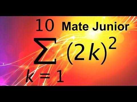 Como aplicar la formula de suma de cuadrados de un numero Mira mas videos en mi canal Matejunior de youtube