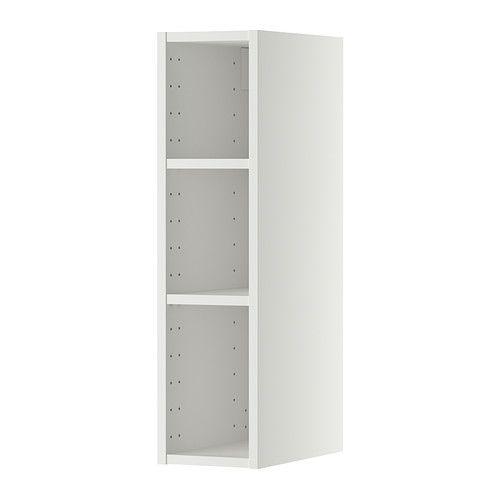 METOD Veggskapstamme - hvit, 20x37x80 cm - IKEA 4 stk, med hvit dør