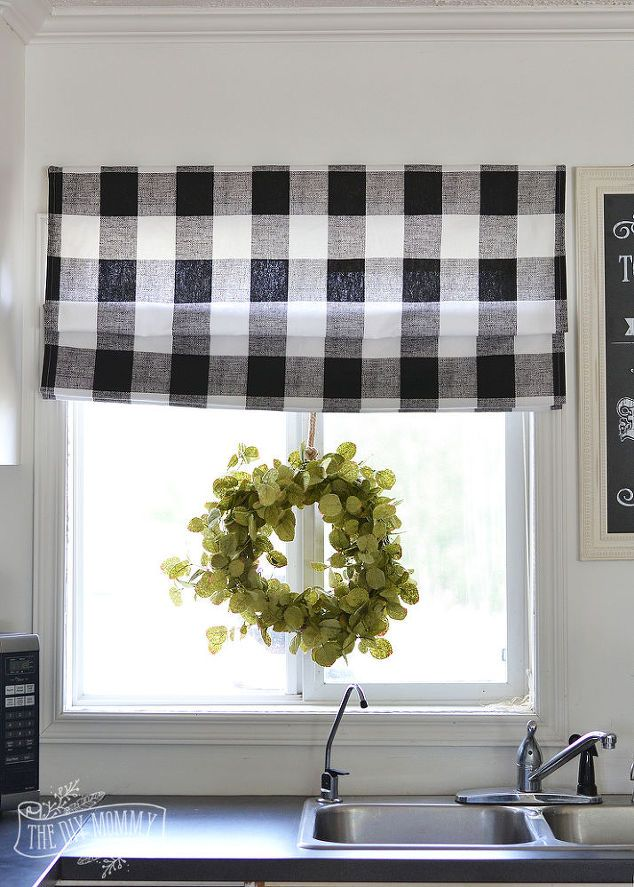 sew a diy roman shade, home decor, reupholster, window treatments, windows