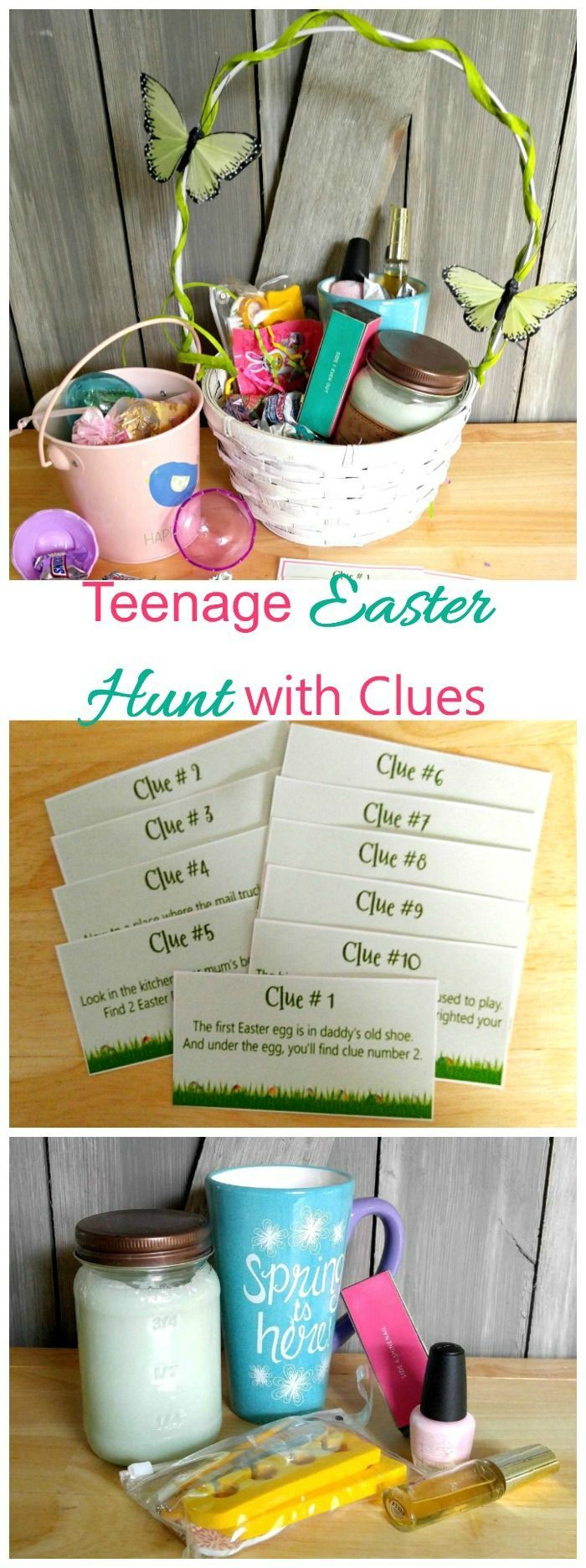 This Easter Egg Hunt with Clues is a lot of fun for teenagers and is a great way to extend the traditional Easter egg hunt when the kids are getting older.. #SpringMoments #ad