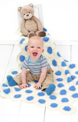 Polka-Dot Baby Blanket crochet pattern