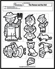 44++ Farmer in the dell coloring page free download